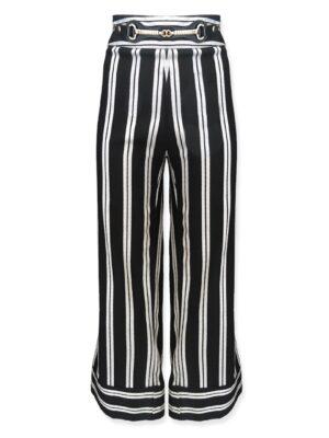 Ριγέ cropped παντελόνι Rinascimento