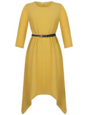 Κίτρινο ασύμμετρο φόρεμα Rinascimento