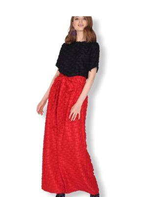 Κόκκινη μάξι φούστα Peacock Pepaloves