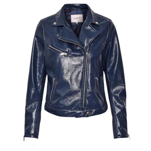 Μπλε γυναικείο μπουφάν περφέκτο Tara Soaked in Luxury