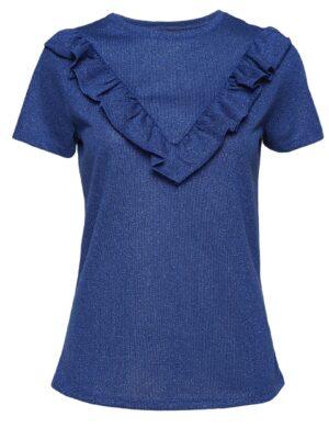 Κοντομάνικη μπλούζα με βολάν Becca Soaked in Luxury