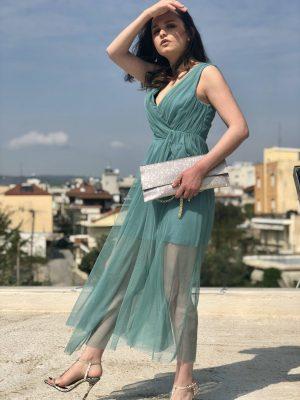 Κρουαζέ φόρεμα από τούλι Rinascimento