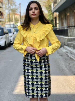 Εμπριμέ ίσια φούστα Pepaloves