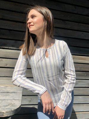 Ριγέ μπλούζα σε νησιώτικο στιλ Malina Kaffe