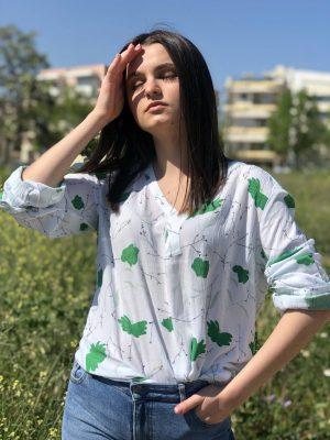 Λευκή εμπριμέ τουνίκ Irena Kaffe