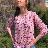 Ροζ φλοράλ μπλούζα Dorita Kaffe