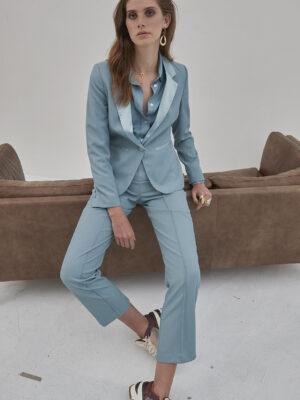 Γαλάζιο γυναικείο σακάκι Beatrix Soaked in Luxury