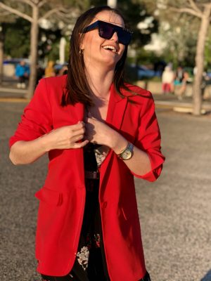 Κόκκινο oversized μπλέιζερ Malou Peppercorn