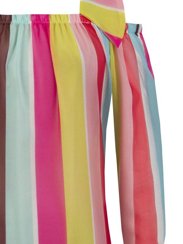 Έξωμη πολύχρωμη μπλούζα Rinascimento