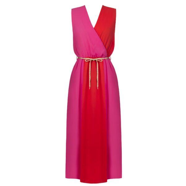 Μίντι φόρεμα Color Block Rinascimento