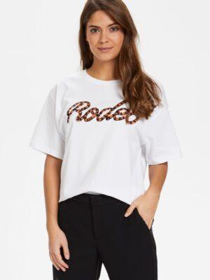 Άσπρο t-shirt με κέντημα Rodeo Soaked in Luxury