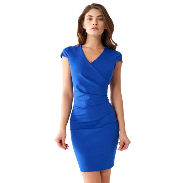 Μπλε ηλεκτρίκ στενό μίνι φόρεμα Rinascimento