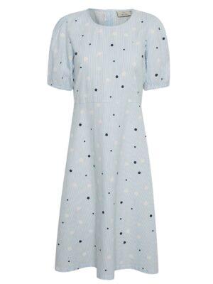 Κοντομάνικο βαμβακερό φόρεμα Mimi Kaffe