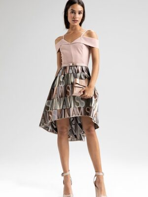 Έξωμο ασύμμετρο φόρεμα Rinascimento