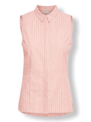 Ροζ ριγέ αμάνικο πουκάμισο Rachelle Inwear