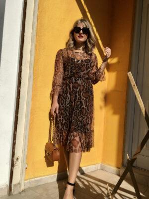 Λεοπάρ φόρεμα Peppercorn