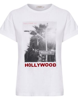 Κοντομάνικο λευκό t-shirt Hallie Soaked in Luxury