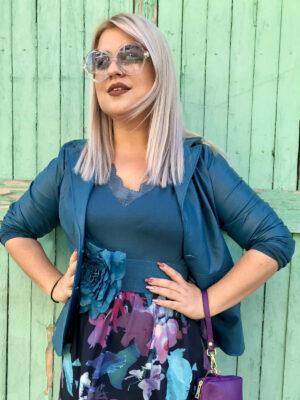 Μακρυμάνικη μπλούζα με δαντέλα Boa Kaffe