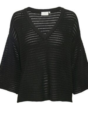 Μαύρη πλεκτή μπλούζα Frida Kaffe