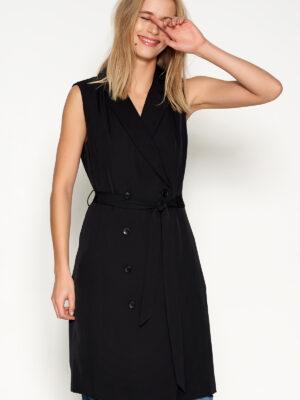 Μαύρο φόρεμα σακάκι αμάνικο Dia Denim Hunter