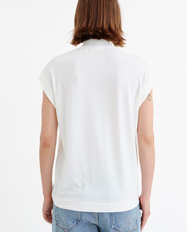Λευκή μπλούζα βε με δέσιμο Yamini Inwear
