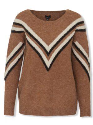 Καμηλό γυναικείο πουλόβερ Danine Desires
