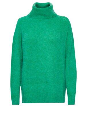 Πράσινο πλεκτό πουλόβερ ζιβάγκο Allie Culture