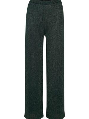 Πράσινη πλεκτή μεταλλιζέ παντελόνα Sierra Cream