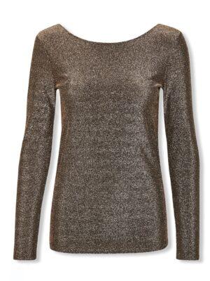 Χρυσή μακρυμάνικη μπλούζα Skylara Soaked in Luxury