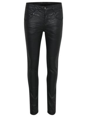 Μαύρο στενό δερματίνη παντελόνι Annelene Cream
