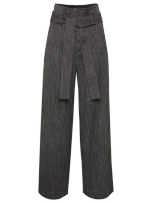 Γκρι παντελόνι με ζώνη από κοστούμι InWear