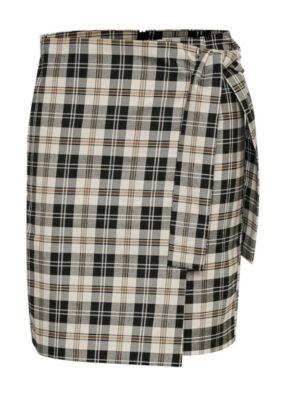Κοντή καρό φούστα με δέσιμο στο πλάι Jannah InWear