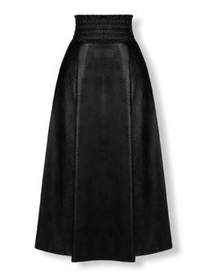 Δερμάτινη μίντι φούστα σε άλφα γραμμή Rinascimento