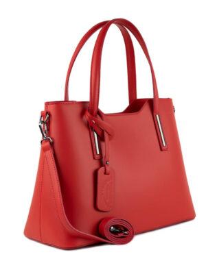 Κόκκινη δερμάτινη τσάντα Yiasu