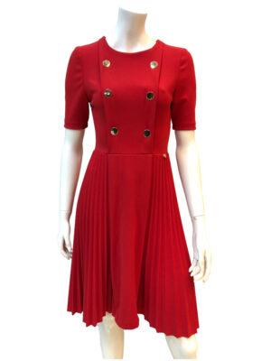 Κόκκινο πλισέ φόρεμα Rinascimento
