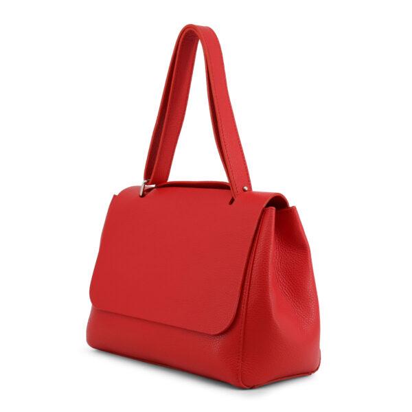 Κόκκινη γυναικεία δερμάτινη τσάντα Yiasu