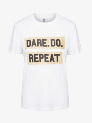 Λευκό T-shirt με logo A Dare Tee Desires