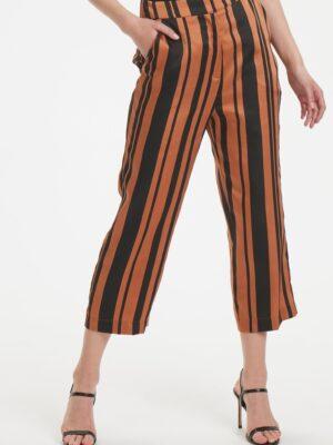 Ριγέ σατέν κάπρι παντελόνι Mollie Soaked in Luxury