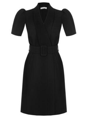 Μαύρο κρουαζέ φόρεμα Plus Size Kitana by Rinascimento