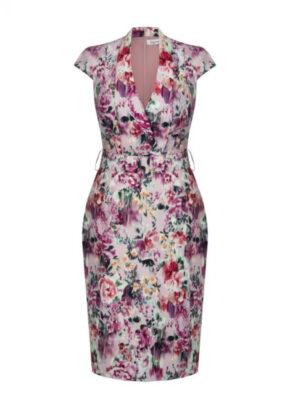 Κρουαζέ φλοράλ φόρεμα Plus Size Kitana by Rinascimento