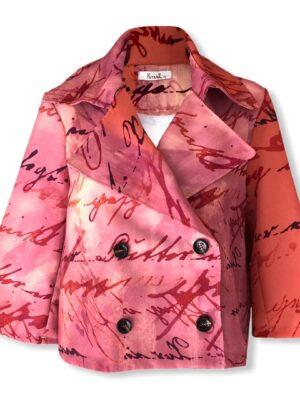 Γυναικείο cropped μπλέιζερ Plus Size Kitana by Rinascimento