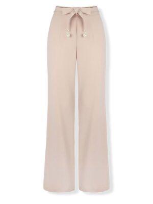 Ροζ nude κρεπ παντελόνα Rinascimento