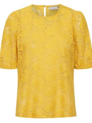 Κοντομάνικη μπλούζα από δαντέλα Damla Kaffe