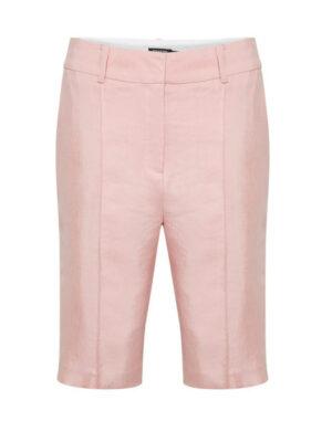 Γυναικεία ροζ λινή βερμούδα Odell Soaked in Luxury