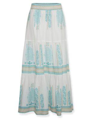 Μάξι βαμβακερή φούστα με βολάν Ilya Cream