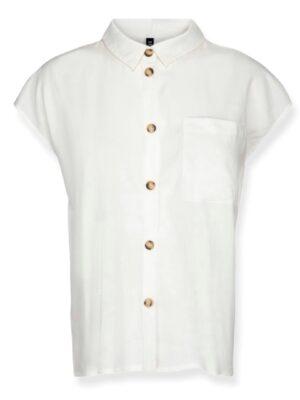 Λευκό αμάνικο λινό πουκάμισο Fejda Desires