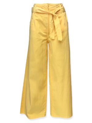 Γυναικεία κίτρινη ζιπ κιλότ Rinascimento