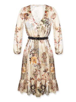 Κοντό φλοράλ boho φόρεμα Rinascimento