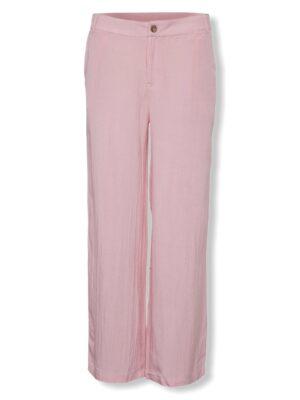 Ροζ λινή παντελόνα Kaclemen Kaffe