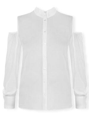 Λευκό έξωμο πουκάμισο Rinascimento